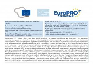 """PROJEKTAS """"Kurianti Šilutė - projektinio įsidarbinimo dirbtuvės"""". 2020-2022 m."""